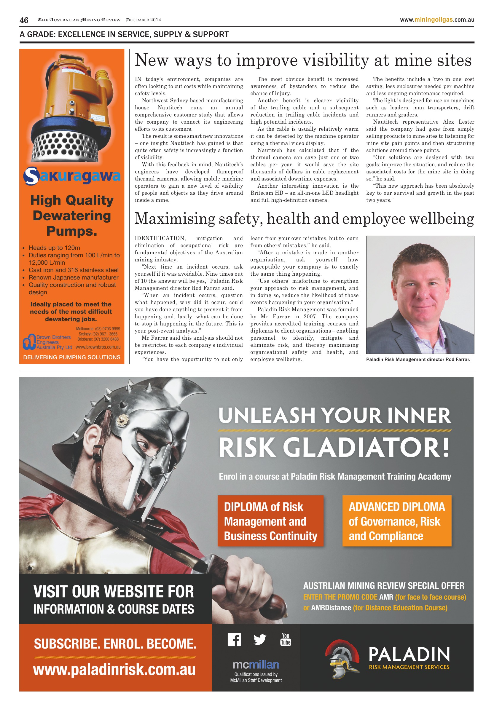 The Australian Mining Review, December 2014 – New ways to improve visibility at mine sites