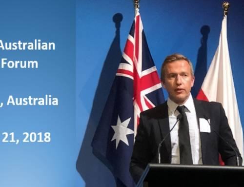 Mac Powolny presents at the Polish Australian Energy Forum
