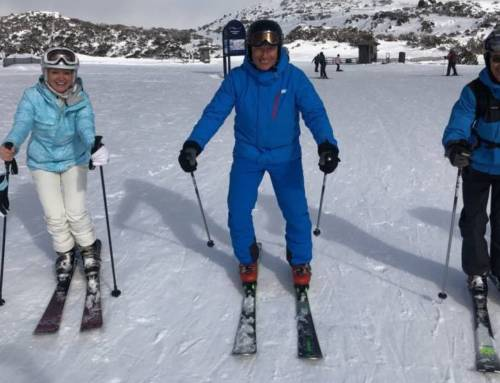 Work hard… Ski hard