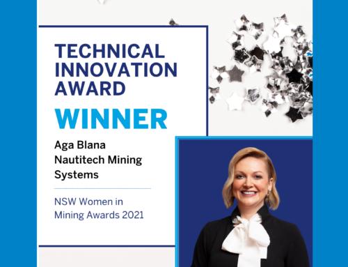 Aga Blana announced as winner of the 2021 NSW Women in Mining Technical Innovation Award!